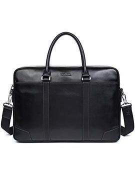 Bostanten Genuine Leather Briefcase Business Laptop Bag Shoulder Bags For Men Black by Bostanten