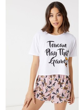 Boohoo Toucan Short And Pj Set by Next