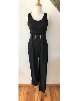 Vintage Black Tank Jumpsuit~Vintage Fashion, Women's Fashion, Power Jumpsuit,Vintage Work Wear,Fall Fashion, Belted Jumpsuit, Work Fashion by Etsy