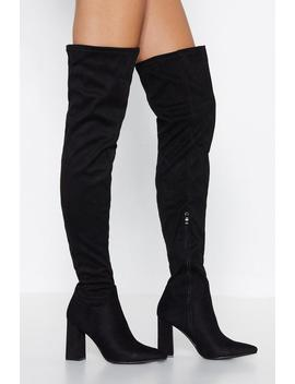 Over Your Bs Over The Knee Boot by Nasty Gal