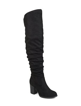 Black Kaison Extra Wide Calf Boot   Women by Bella Cora