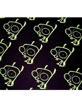 Rare Htf Gir Invader Zim Gir Black Fabric Diy Punk Bty by Etsy