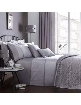 Grey Owen Bedspread by Dunelm