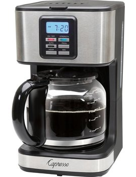 Sg220 12 Cup Coffee Maker   Black/Stainless Steel by Capresso