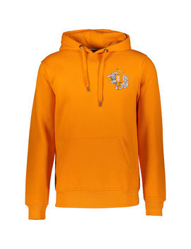 Orange Pullover Tiger Hoodie by Rusty Neal