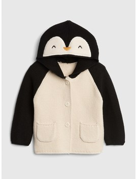 Penguin Garter Hoodie Sweater by Gap