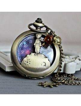 The Little Prince And Stars/Pocket Watch by Etsy