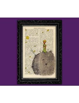 The Little Prince Book Art Print Le Petit Prince Dorm Decorations Antique Book Page Antique Dictionary Baby Gift Baby Shower Gift (Nº1) by Etsy