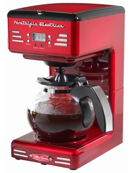 Retro Series '50's Style 12 Cup Coffee Maker   Red by Nostalgia Electrics