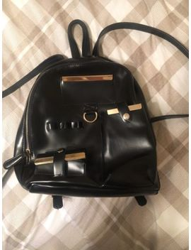 Topshop Black Faux Leather Small Backpack   Like New Condition&Nbsp; by Topshop