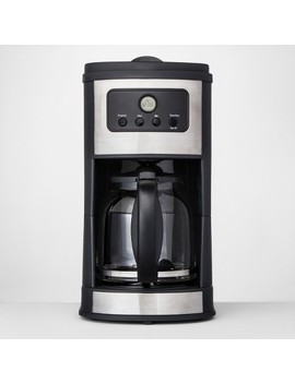 12 Cup Programmable Automatic Drip Silver Coffee Maker   Made By Design™ by Shop This Collection