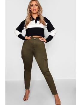 Plus Utility Pocket Tube Jean by Boohoo