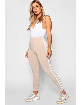 Plus Side Stripe Legging by Boohoo