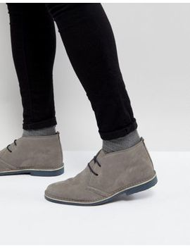 Pier One   Desert Boots In Grijs Suède by Asos