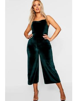 Plus Velvet Culottes by Boohoo