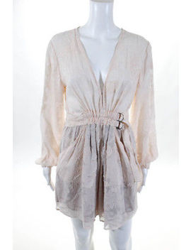 Alc Womens Dress Size 8 Pink Long Sleeve Belted New $545 Jg15 by Alc