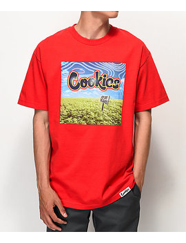 Cookies Keep Off The Grass Red T Shirt by Cookies