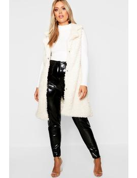 Plus Shaggy Faux Fur Gilet by Boohoo
