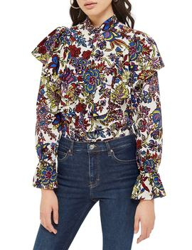 Rokit Floral Ruffle Blouse by Topshop