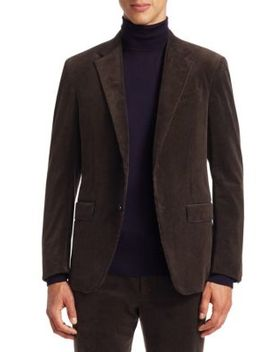 Two Button Corduroy Blazer by Ermenegildo Zegna