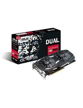 Asus Radeon Rx 580 O4 G Dual Fan Oc Edition Gddr5 Dp Hdmi Dvi Vr Ready Amd Graphics Card (Dual Rx580 O4 G) by Asus