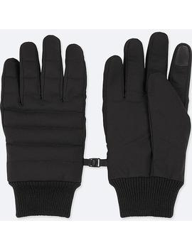 Men Heattech Lining Quilted Gloves by Uniqlo