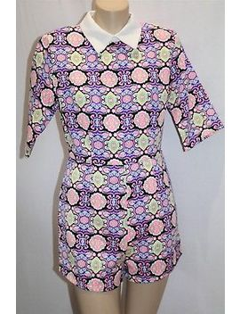 Missguided Brand Multicolour Jacquard Collar Playsuit Size 8 Bnwt #Tr50 by Missguided