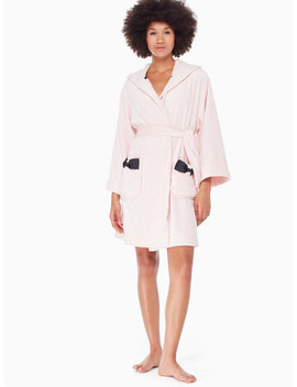 Hooded Bow Robe by Kate Spade