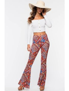 Zen Boho Flare Leggings by A'gaci
