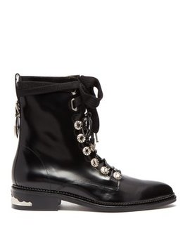 Polished Leather Ankle Boots by Toga