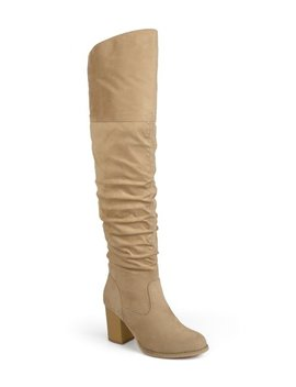 Taupe Kaison Extra Wide Calf Boot   Women by Bella Cora