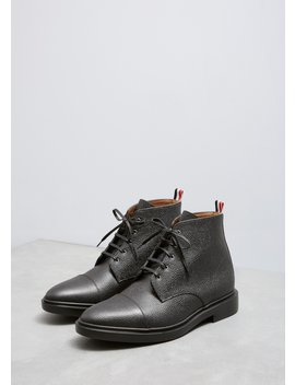 Cropped Derby Cap Toe Boot by Thom Browne
