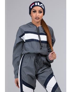 Mirror Mirror Reflective Cropped Hoodie by Akira