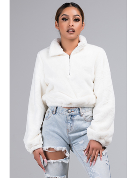 Better Together Faux Fur Pullover Sweater by Akira