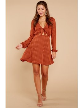 Just Be There Rust Dress by Storia