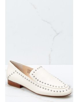 Talbia Cream Studded Loafer by Sole Society