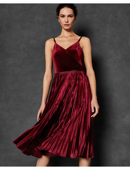 Pleated Midi Dress by Ted Baker