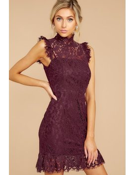 Learn To Love Wine Lace Dress by Storia