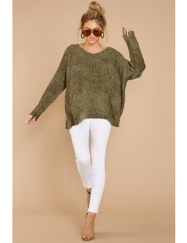 Bring It To LightGreen Sweater by Miracle