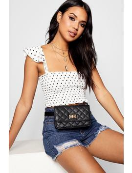 Quilt & Lock Belt Bag by Boohoo