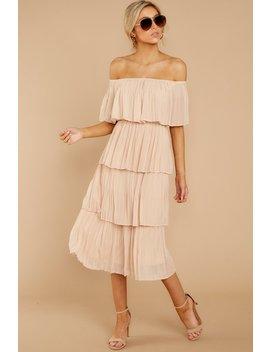 See It Happen Beige Dress by Just Me