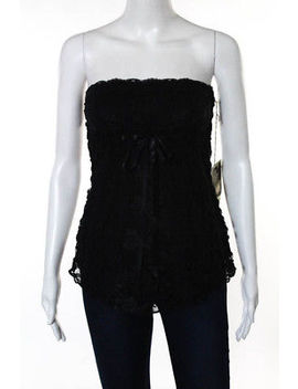 Ann Ferriday Black Lace Tied Empire Waist Strapless Top Size One Size New by Ann Ferriday
