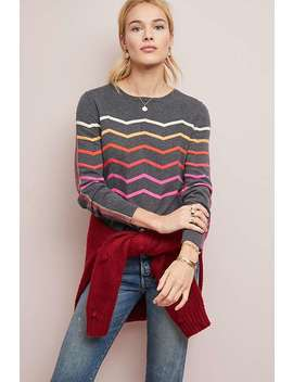 Rainbow Chevron Sweater by Made East