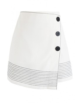 Work It Out Flap Bud Skirt In White by Chicwish