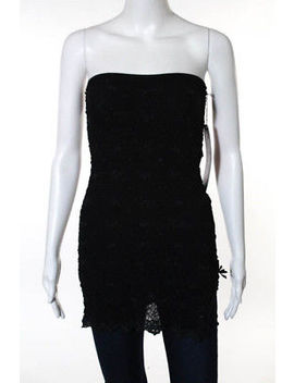 Ann Ferriday Black Stretch Knit Strapless Top Size One Size New by Ann Ferriday