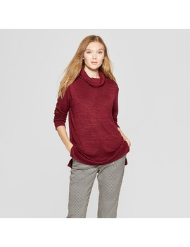 Women's Long Sleeve Cozy Cowl Neck Top   A New Day™ by A New Day™