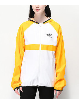 Adidas Skate Orange & White Windbreaker Jacket by Adidas