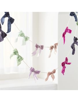 Velvet Bow Garland by Crate&Barrel