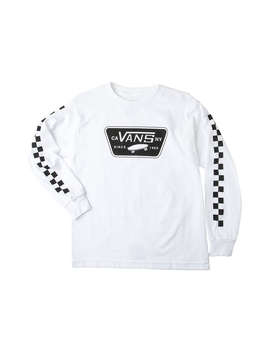 Youth Vans Full Patch Checkered Long Sleeve Tee by Vans