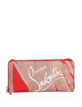 Kraft Loubi Panettone Leather Continental Wallet by Christian Louboutin